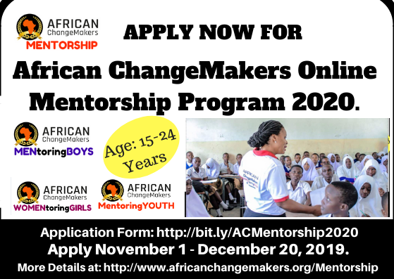 African ChangeMakers Online Mentorship Program 2020 (#ACMentorship)