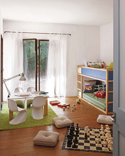 10 shared children's bedrooms with lots of color 8