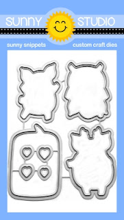 Sunny Studio Stamps: Hogs & Kisses Metal Cutting Dies to coordinate with matching stamp set