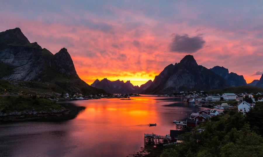 Закат в Рейне, Норвегия