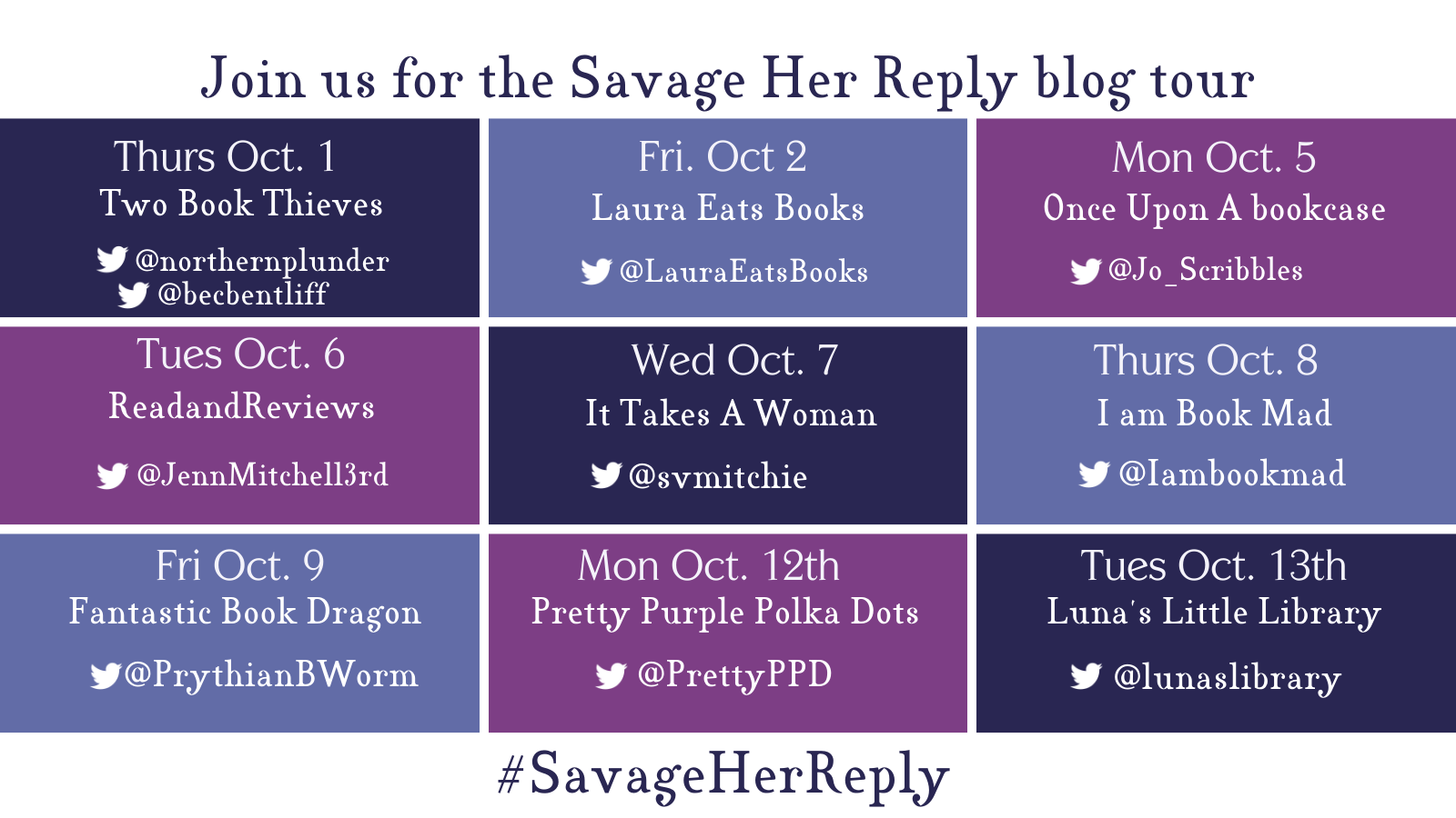 Savage Her Reply by Deirdre Sullivan Blog Tour Banner
