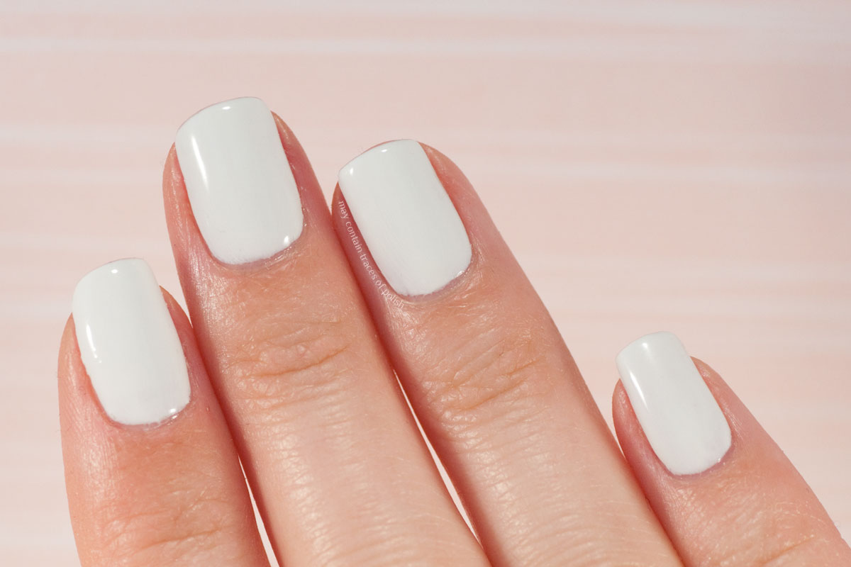 Pink Gellac Love Affair Collection swatches - 319 Decent White