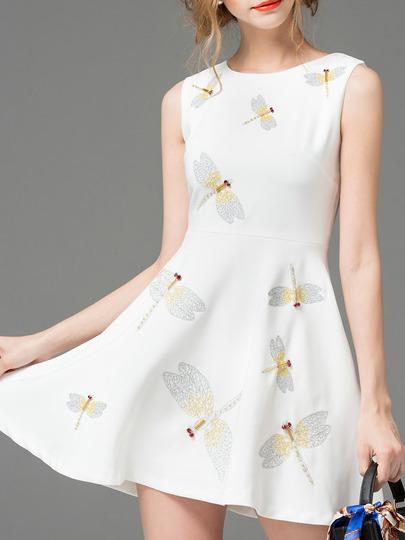 spring dragonfly dress