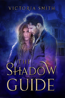 The Shadow Guide cover; purple and blue and gold, with a tough-looking couple in front of a gothic-style house