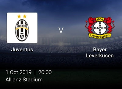 LIVE MATCH: Juventus Vs Bayer Leverkusen UEFA Champions League 01/10/2019