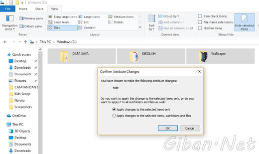 Cara Menyembunyikan File dan Folder pada Windows 10 Pro