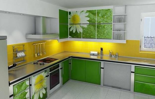 Contoh Model Desain Kitchen Sets Hijau