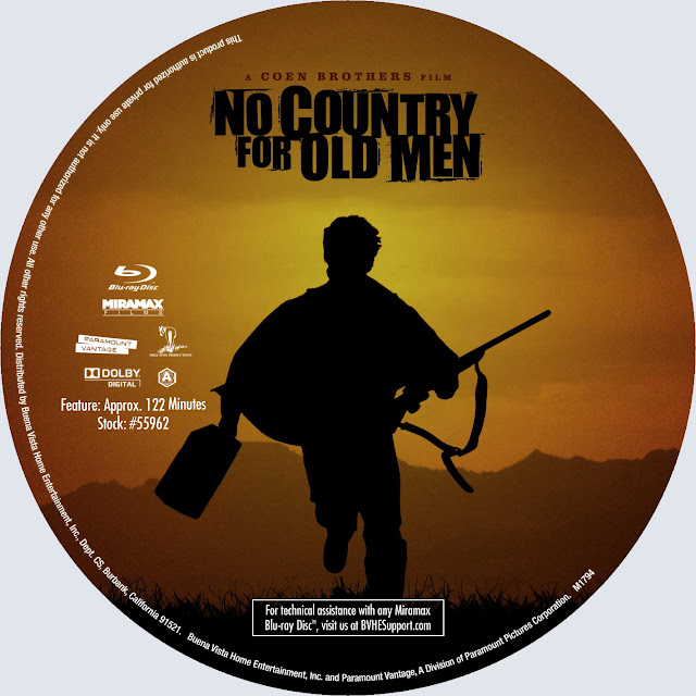 No Country For Old Men Bluray Label