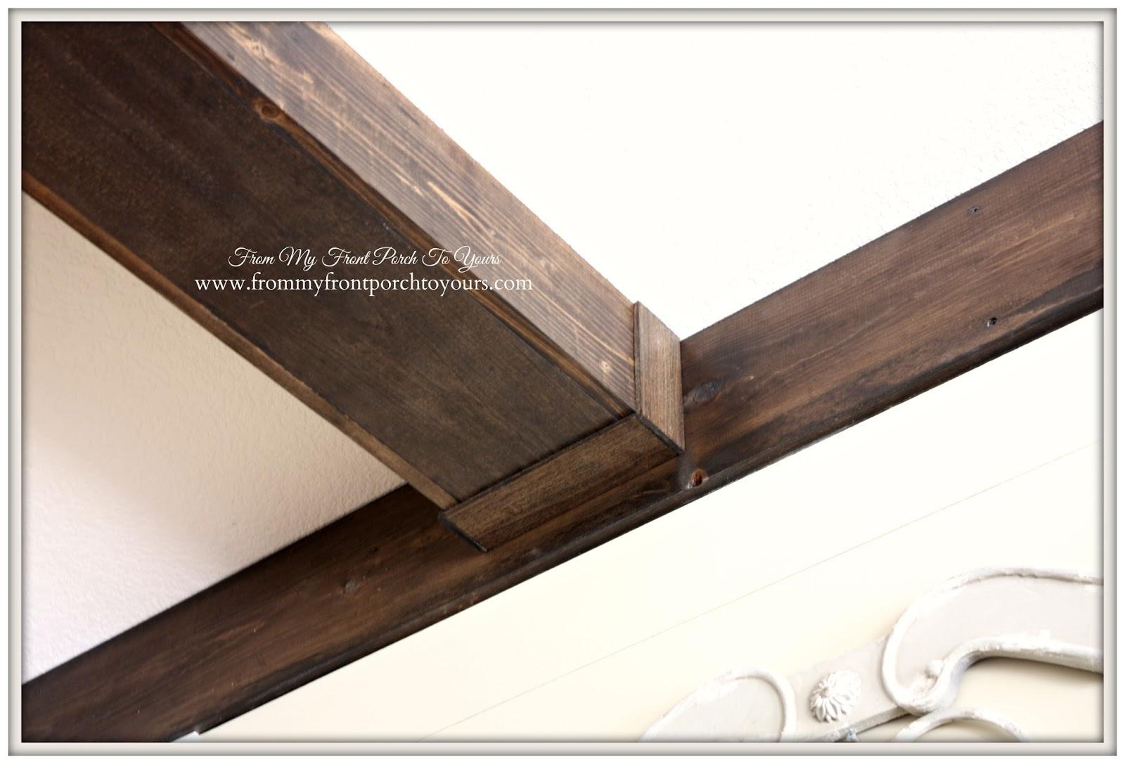Installing Ceiling Beams Diy