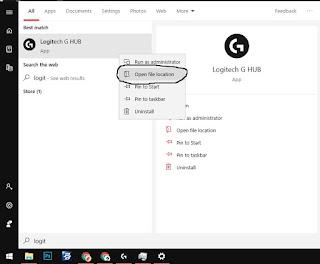 cari folder aplikasi g hub