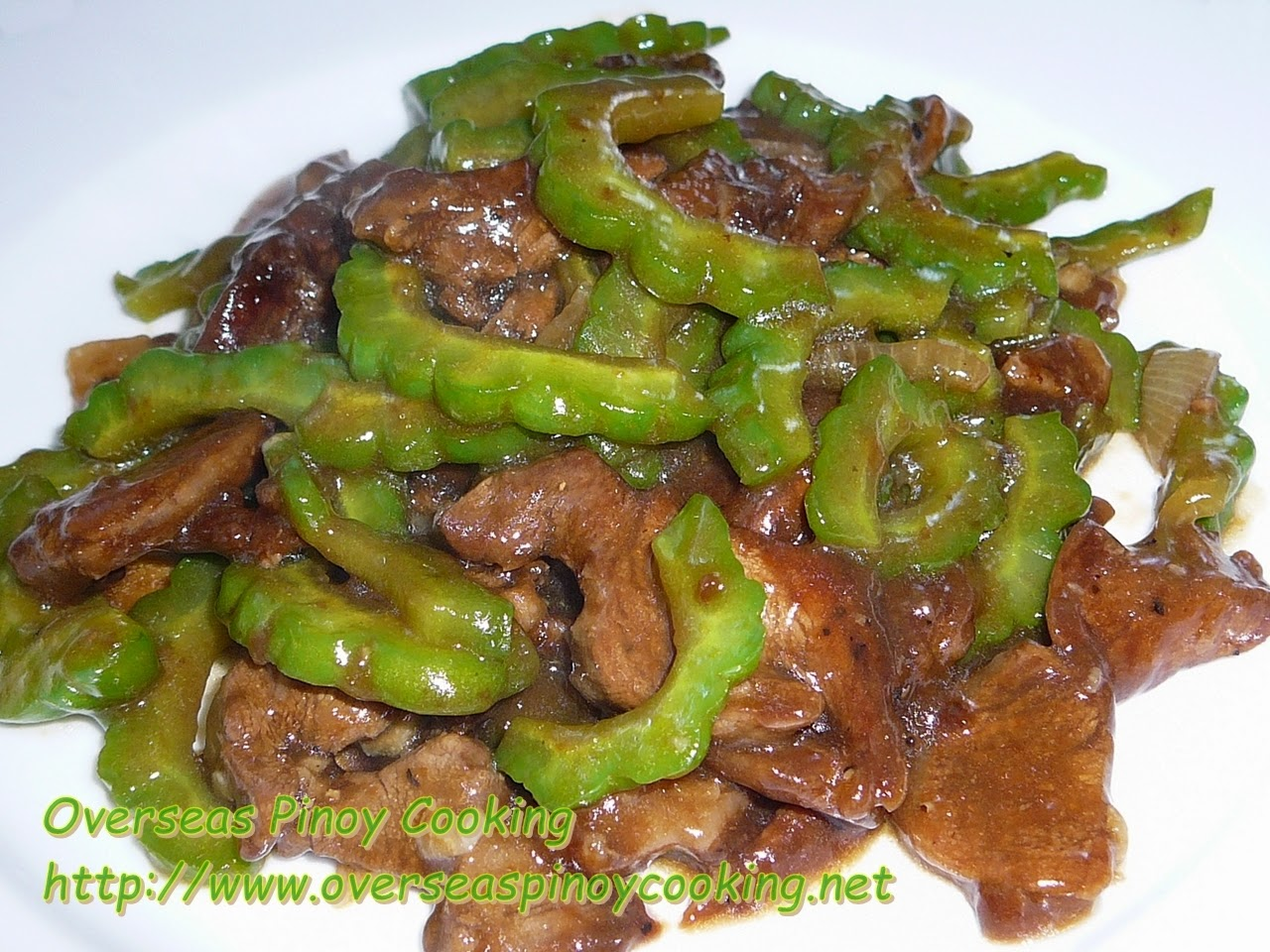 Pork and Ampalaya with Oyster Sauce