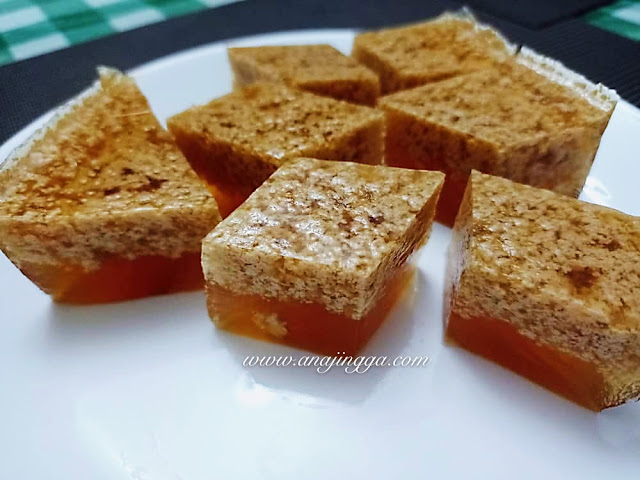 Resepi Agar-agar santan gula melaka