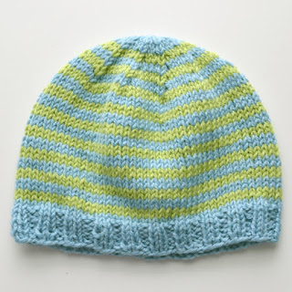 cozy birdhouse | striped newborn hat