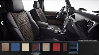 Nội thất Mercedes G500 2019 màu Đen / Nâu Mocha SR6