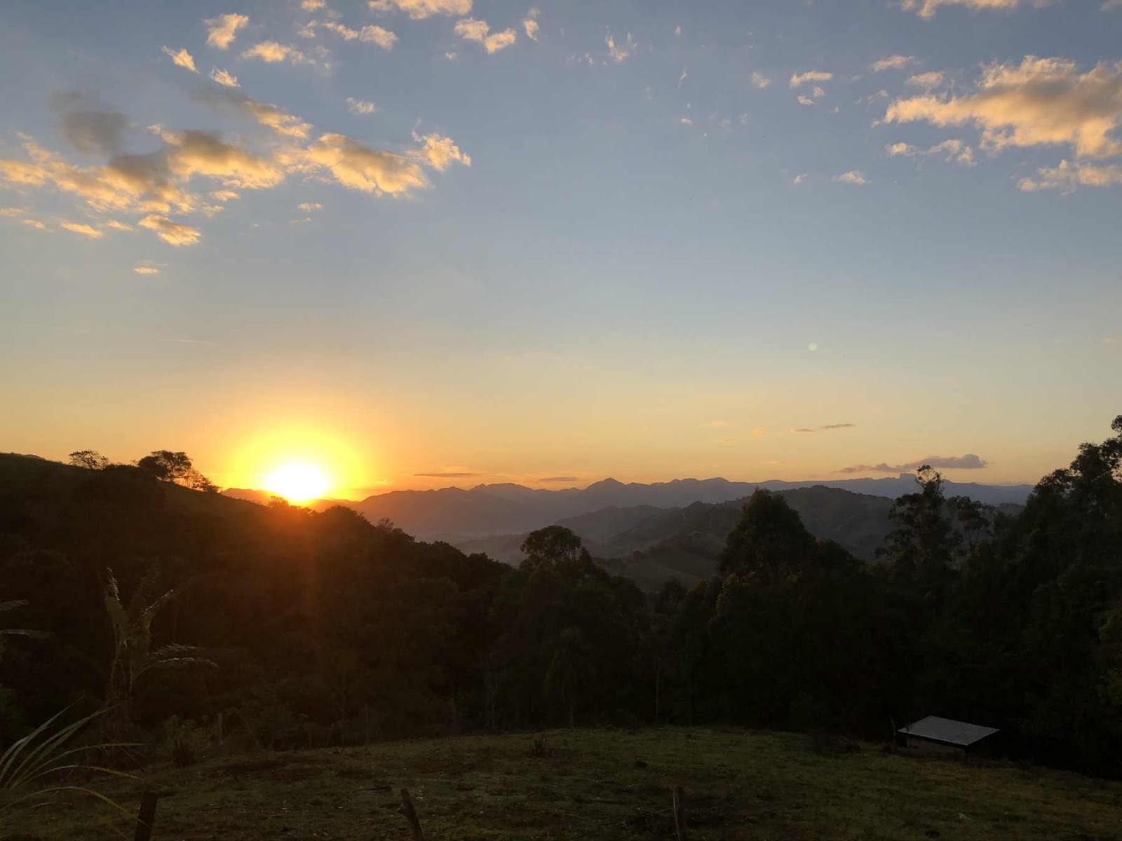 Vista do Chalé em Gonçalves