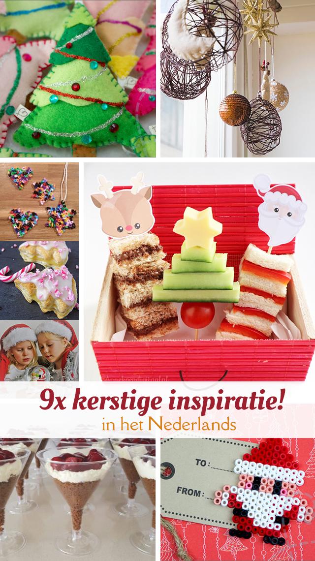 Negen keer inspiratie voor de kerst van Nederlandstalige bloggers. Van leuke kerstboom DIY's, lekkere recepten voor het kerstdiner (op school) tot inspiratie voor de fotoshoot voor de kerstkaart.