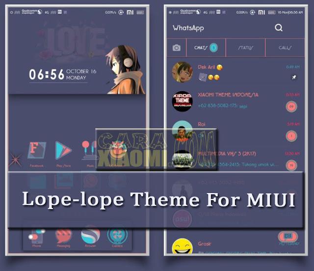 MIUI Theme Lope - Lope Material Desain Mtz [Tembus ke Semua Aplikasi]