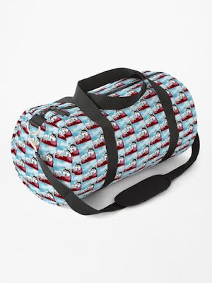 Duffle bag, Weekend bag, Overnight Bag, Accessories with dog design