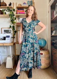 Floral Viscose True Bias Shelby Dress