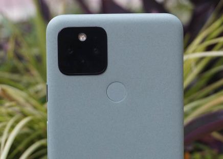 Gambar yang dipotong dari tumpukan kamera Google Pixel 5