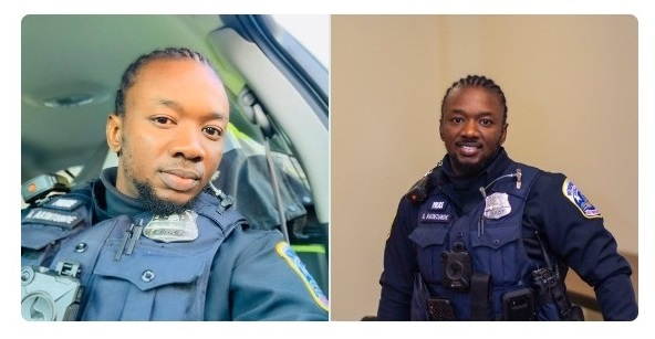 US Police Officer Reacts As Nigerian Police Profile Him Because Of His Braids (Photos)