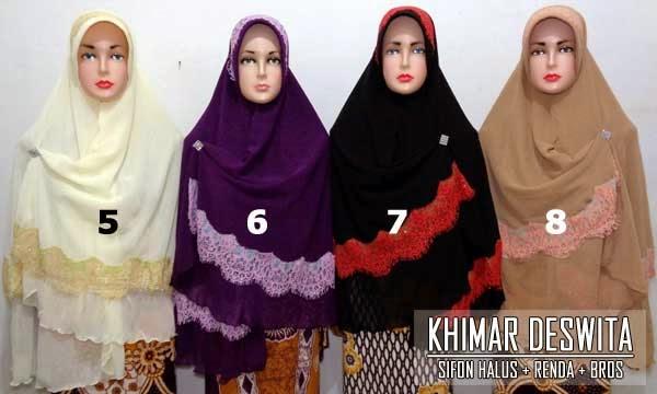 Model jilbab khimar terbaru 2015 dengan renda modern
