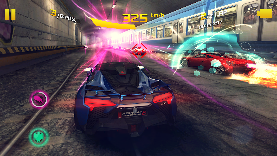 image of car racing from Asphalt 8 game by Gameloft