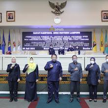 Gubernur dan DPRD Lampung Tandatangani Raperda Pertanggungjawaban APBD Tahun 2020