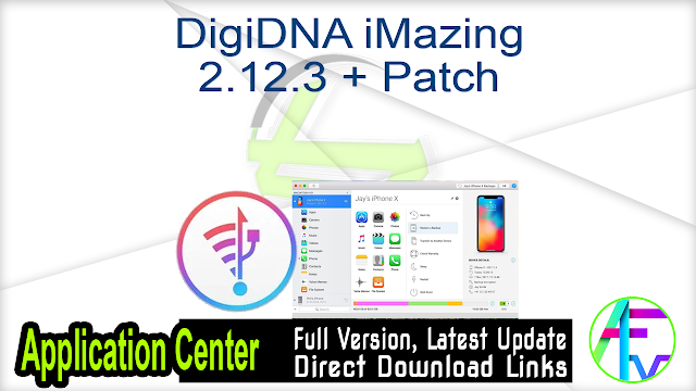 DigiDNA iMazing 2.12.3 + Patch