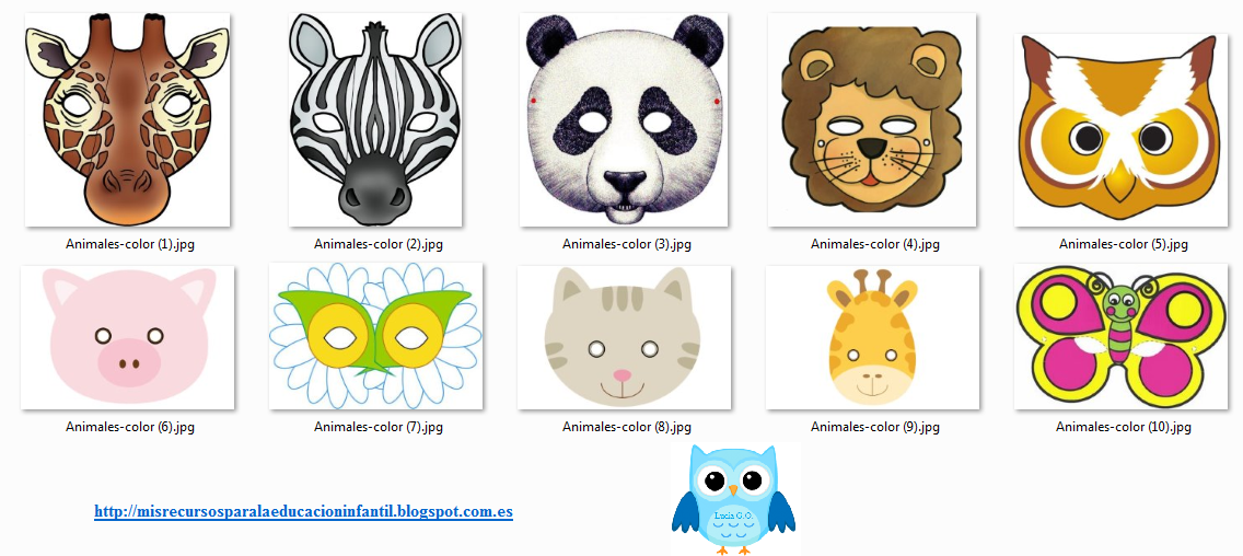 Play Learn Mascaras De Animales Para Imprimir