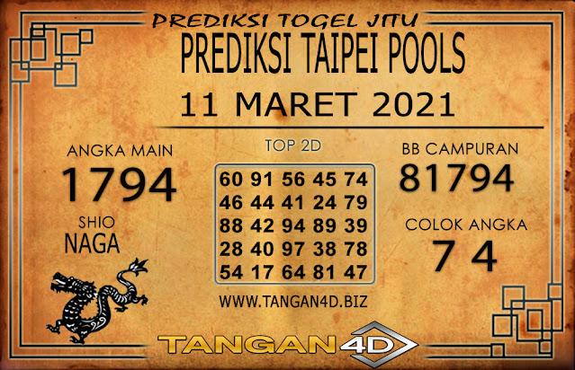 PREDIKSI TOGEL TAIPEI TANGAN4D 11 MARET 2021