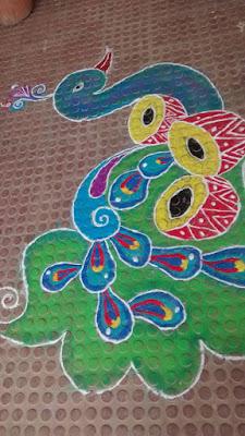 Creative Peacock Rangolis