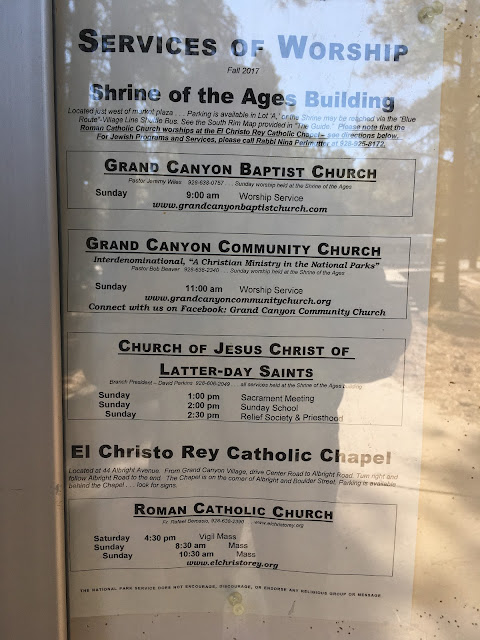 shrine of the ages weekly religious service schedule grand canyon national park arizona