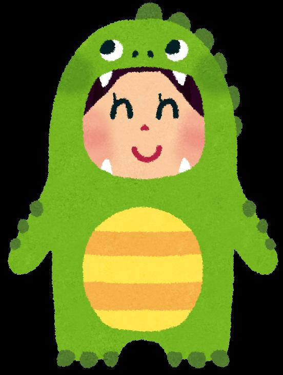 恐竜の着ぐるみの女の子のイラスト かわいいフリー素材集 いらすとや