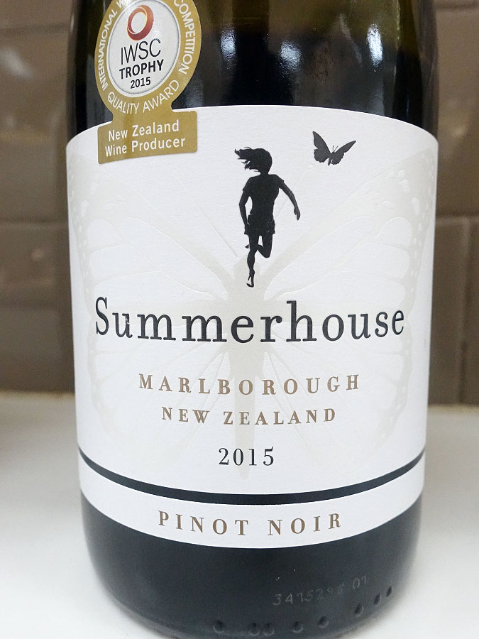 Summerhouse Pinot Noir 2015 (90 pts)