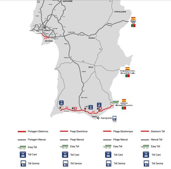 Mapa De Carreteras Portugal.Las Autopistas En Portugal Y Como Se Paga El Peaje