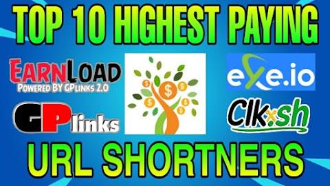 Top 10 Highest paying URL shortners