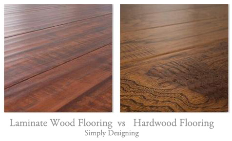 Floating Laminate Wood Flooring vs Real Hardwood Flooring | the pros and cons of Laminate Flooring and Hardwood Flooring | #diy #tutorial #wood | at Simply Designing
