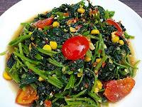Masak Sehat, Lezat dan Hemat Tumis Bayam Tomat