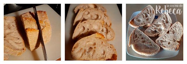 Receta de torrijas de tomate con polvo de jamón: el pan