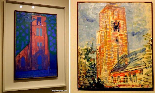 Obras Mondrian em Brasília: Campanário em Zeeland e Igreja em Ostkapelle