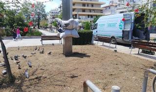 Εργασίες ανακατασκευής συστήματος υπάρδευσης στη κεντρική πλατεία Καλαμάτας