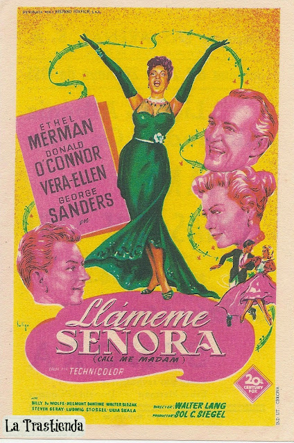 Programa de Cine - Llámeme Señora - Donald O'Connor - Ethel Merman - Vera Ellen - George Sanders