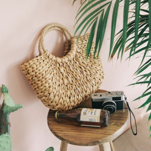 Affordable Circle Straw Bag