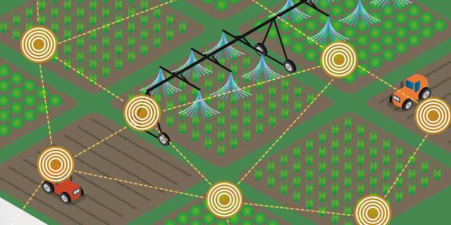 تطبيقات إنترنت الأشياء في مجال الفلاحة( الزراعة الذكية)