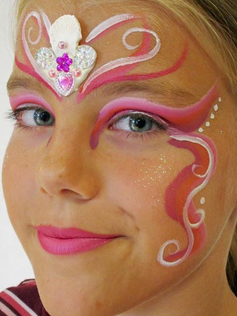Havfrue ansigtsmaling