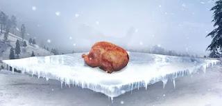 Daging ayam bisa di dapat dengan cara berburu ayam yang berkeliaran. Nantinya, daging ayam ini bisa kalian panggang pada tungku drum ranting dan memakannya saat sudah matang sambil menunggu badai usai. Fungsi memakan ayam panggang ini adalah membantu menghangatkan suhu tubuh.