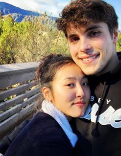 Lyrica Okano with her boyfriend Ed Word