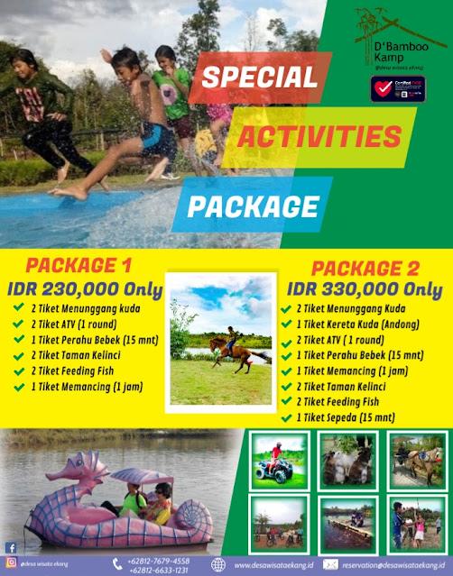 Harga paket Aktivity Desa Wisata Ekang