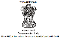 MGNREGA Technical Assistant Admit Card
